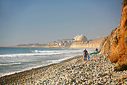 Surfers Out in Front of the Nuclear Power Plant at San Onofre in Orange County California
