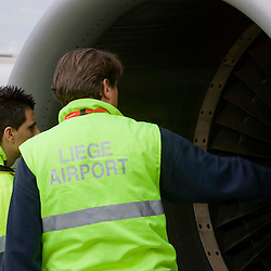 Liege - Belgium - September 2009 - Liège airport - Tarmac operation operated by Aviapartner at Liège Airport © Patrick Mascart / Scorpix