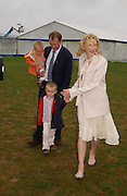 Andrew Upton, Cate Blanchett, Dashiel and roman Upton. Cartier International Day at Guards Polo Club, Windsor Great Park. July 24, 2005. ONE TIME USE ONLY - DO NOT ARCHIVE  © Copyright Photograph by Dafydd Jones 66 Stockwell Park Rd. London SW9 0DA Tel 020 7733 0108 www.dafjones.com