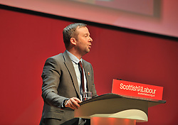 General Secretary of the Scottish Labour Party Brian Roy opens the 2018 Scottish Labour conference at the Caird Hall in Dundee.<br /> <br /> © Dave Johnston / EEm