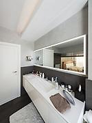 beautiful interior of a modern house, bathroom