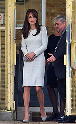 © Licensed to London News Pictures. 25/09/2015. Woking, UK. Catherine, The Duchess of Cambridge leaving the main security gate following a visit to the Rehabilitation of Addicted Prisoners Trust at HMP Send on September 25, 2015. Photo credit: Ben Cawthra/LNP