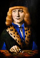 Royaume Uni, Londres, The National Gallery, Marco D'Oggiono, Portrait de jeune homme // United Kingdom, London, The National Gallery, Marco D'Oggiono, Portrait of young man