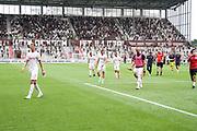 Fussball: 2. Bundesliga, FC St. Pauli - Holstein Kiel, Hamburg, 25.07.2021<br /> Enttäuschung bei Holstein Kiel<br /> © Torsten Helmke