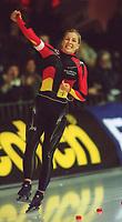 Skøyter: Annie Friesinger, Tyskland. EM 2002. 050102.<br /><br />Foto: Valerie Witters, Digitalsport