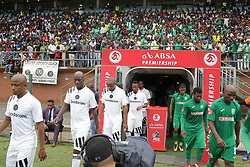 15042018 (Durban) Pirates came from behind to grab a 2-1 win over AmaZulu to keep their title hopes alive in the Absa Premiership at King Zwelithini Stadium yesterday in Durban<br /> Picture: Motshwari Mofokeng/ANA