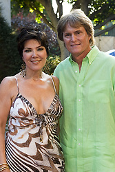 July 9, 2005 - Pacific Palisades, California, U.S. - 9 July 2005 - Pacific Palisades, California - Kris Jenner and Bruce Jenner.  Hollyrod's Designcure Celebrates It's 'Lucky Seven' with Performances by Kenneth ''Babyface''  Edmonds & Brian Culbertson and Featuring Fashion Show with Designer Pamela Dennis held at the home of Sugar Ray Leonard.  Photo Credit: Zach Lipp/AdMedia (Credit Image: © Zach Lipp/AdMedia via ZUMA Wire)
