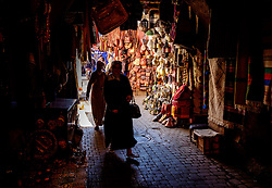A narrow alley  in the medina, Marrakech, Morocco, North Africa<br /> <br /> (c) Andrew Wilson | Edinburgh Elite media