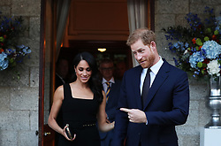 The Duke and Duchess of Sussex attend a Summer Party at the British Ambassador's residence at Glencairn House, during a visit to Dublin, Ireland.