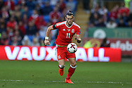 Gareth Bale of Wales in action.Wales v Georgia , FIFA World Cup qualifier, European group D match at the Cardiff city Stadium in Cardiff on Sunday 9th October 2016. pic by Andrew Orchard, Andrew Orchard sports photography