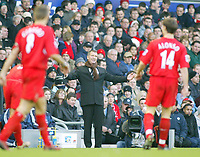 19/12/2004 - FA Barclays Premiership - Liverpool v Newcastle United - Anfield, Liverpool<br />Newcastle United's manager, and former Liverpool playing hero, Graeme Souness stands frustrated watching the match at his old club.<br />Photo:Jed Leicester/Back Page Images