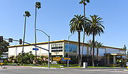 The Anaheim Central Library Building at the Corner of Broadway and Harbor Boulevard