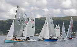 Caledonia MacBrayne Largs Regatta Week 2016<br /> <br /> Melin Rockets and RS200's on the dinghy fleet start<br /> <br /> Credit Marc Turner / PFM Pictures.co.uk