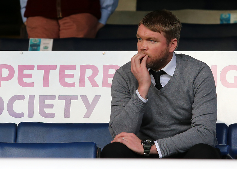 Peterborough United manager Grant McCann looks on from the stand before kick off<br /> <br /> Photographer David Shipman/CameraSport<br /> <br /> The EFL Sky Bet League One - Peterborough United v Gillingham - Saturday 14th October 2017 - London Road Stadium - Peterborough<br /> <br /> World Copyright © 2017 CameraSport. All rights reserved. 43 Linden Ave. Countesthorpe. Leicester. England. LE8 5PG - Tel: +44 (0) 116 277 4147 - admin@camerasport.com - www.camerasport.com
