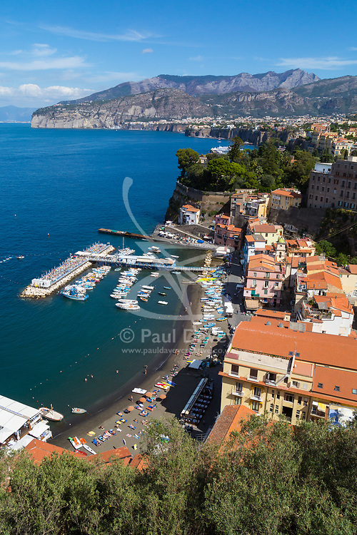 Sorrento, Italy, September 18 2017. An elevated view of Marina Grande, Sorrento, Italy. © Paul Davey