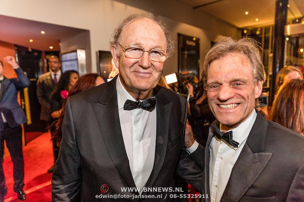 NLD/Utrecht/20170112 - Musical Awards Gala 2017, Joop van der Ende en persoonlijke pr man Maarten van Nispen