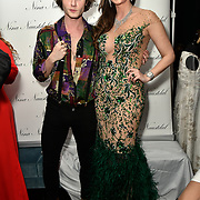 Ben Luke Jones and Nina Naustdal Arrivers at Nina Naustdal catwalk show SS19/20 collection by The London School of Beauty & Make-up at Bagatelle on 26 Feb 2019, London, UK.