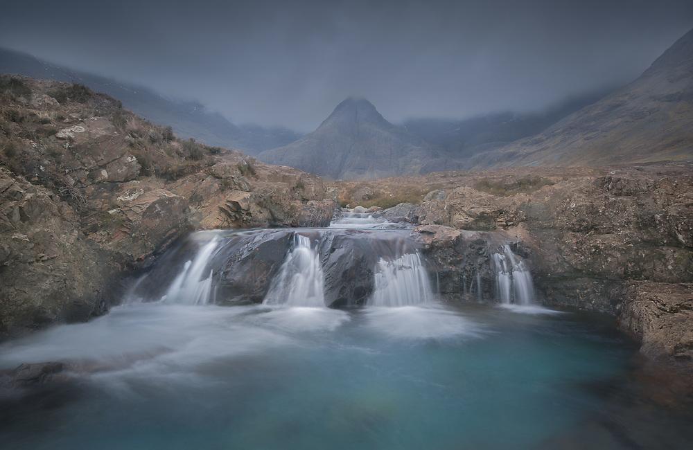 One can't help but fall under the magical spell of the fairy pools on the enchanted Isle of Skye.