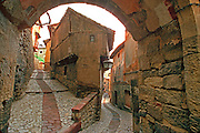 SPAIN, ARAGON Albarracin town gate and streets
