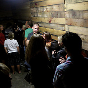 People wait to enter Sunday October 26, 2014 at Lyceum Academy's 'Twisted' in Wilmington, N.C. (Jason A. Frizzelle)