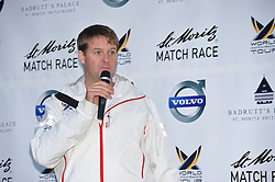 Craig Mitchell, WMRT Tour Director at the opening ceremony for the St.Moritz Match  Race. Photo:Chris Davies/WMRT