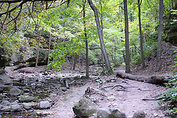 25 September 2012:   Illinois scenery near Oglesby and Ottawa..Matthiessen State Park. Hiking trail in the Upper Dells area has a stair case leading out.  The creek is dry this year because of the 2012 drought.