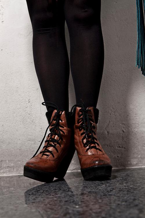 "2012 January 11-Anastasia Spracklin is photographed at minorwhite studios for Her Magazine's ""Stylish Stylist"" article."