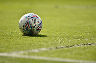 Mitre EFL sky bet Match ball in the sun during the EFL Sky Bet League 1 match between Portsmouth and Rochdale at Fratton Park, Portsmouth, England on 13 April 2019.