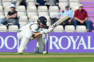 Gary Ballance of Yorkshire ducks under a short ball bowled by Fidel Edwards of Hampshire during the Specsavers County Champ Div 1 match between Hampshire County Cricket Club and Yorkshire County Cricket Club at the Ageas Bowl, Southampton, United Kingdom on 11 April 2019.