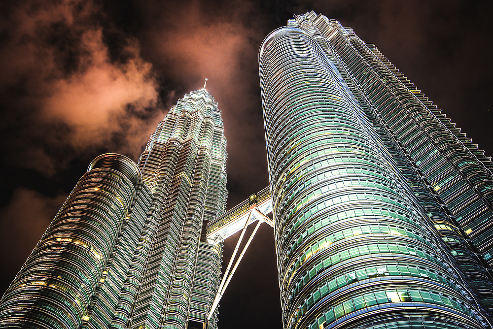 Petronas Towers at Kuala Lumpur, Malaysia