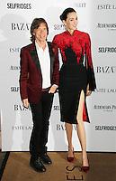 Mick Jagger; L'Wren Scott, Harper's Bazaar Women of the Year Awards, Claridge's Hotel, London UK, 05 November 2013, Photo by Richard Goldschmidt