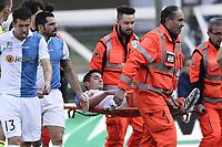Grave  infortunio Federico Mattiello Chievo. Injured <br /> Verona 08-03-2015, Stadio Bentegodi, Football Calcio 2014/2015 Campionato Serie A Chievo - AS Roma Foto Image Sport/Insidefoto