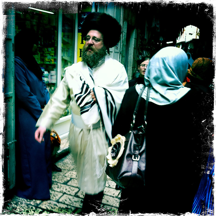 Jerusalem, Israel. September 24th 2011.A street scene in the historical old city...