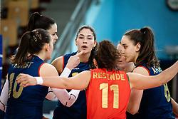 Team of Portugal during volleyball match between Slovenia and Portugal in CEV Volleyball European Silver League 2021, on 12 of June, 2021 in Dvorana Ljudski Vrt, Maribor, Slovenia. Photo by Blaž Weindorfer / Sportida