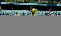 Photo: Daniel Hambury.<br />Queens Park Rangers v Leeds United. Coca Cola Championship. 08/08/2006.<br />Leeds' Geoff Horsfield scores to make it 1-2.