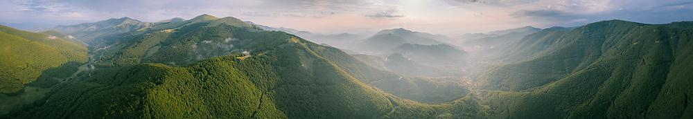 Sunrise over Sunrise over Mount Verno near Florina, Greece