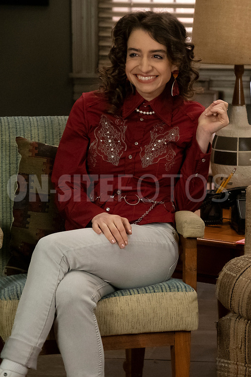 """THE GOLDBERGS - """"The Dating Game"""" – Trying to move on from their breakup, Erica goes on a date with a guy from the coffee shop while Geoff ends up on an episode of """"The Dating Game,"""" which winds up making things even more difficult for them both. Meanwhile, Beverly is thrilled to learn that Murray has spontaneously purchased a shore house until she realizes it's not quite the luxury home she imagined on a new episode of """"The Goldbergs,"""" WEDNESDAY, APRIL 21 (8:00-8:30 p.m. EDT), on ABC. (ABC/Scott Everett White)<br /> BETH TRIFFON"""