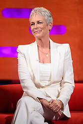 Jamie Lee Curtis during the filming of the Graham Norton Show at BBC Studioworks 6 Television Centre, Wood Lane, London, to be aired on BBC One on Friday evening.