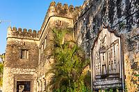 Stone Town , Zanzibar-February  28, 2019 : The Old Fort Ngome Kongwe