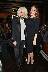 Left to right, RITA ORA and KELLY BROOK at a birthday party for Kyle De'Volle hosted by Rita Ora at Bo Lang, 100 Draycott Avenue, London SW3 on 29th November 2013.