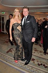 TANIA BRYER and ROD BARKER at a birthday dinner for Claire Caudwell for family & friends held at The Dorchester, Park Lane, London on 24th January 2014.