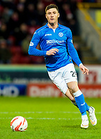 01/01/15 SCOTTISH PREMIERSHIP<br /> ABERDEEN v ST JOHNSTONE<br /> PITTODRIE - ABERDEEN<br /> Michael O'Halloran in action for St Johnstone