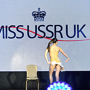 Julia Sinitsina gymnastic performs at the Grand Final MISS USSR UK 2019 at Hilton hotel London on 27 April 2019, London, UK.