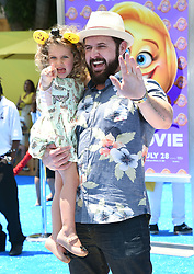 July 23, 2017 - Westwood, California, U.S. - A. J. Buckley and Willow Buckley arrives for the premiere of the film 'The Emoji Movie' at the Regency Village theater. (Credit Image: © Lisa O'Connor via ZUMA Wire)