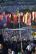 People at Glastonbury Festival, Somerset, Britain - 27 June 2003.