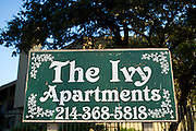 The Ivy Apartments where the first confirmed Ebola virus patient was staying with family in Dallas, Texas on October 2, 2014. The patient is now being treated at Texas Health Presbyterian Hospital Dallas. (Cooper Neill for The New York Times)