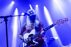 © Licensed to London News Pictures. 08/03/2014. London, UK.   Dark Bells performing live at Shepherds Bush Empire, supporting headliner Temples.   In this picture - Teneil Throssell.  Photo credit : Richard Isaac/LNP