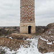 Asia, Azerbaijan, Nagorno-Karabakh, Fusili<br /> <br /> The mosque in the centre of Agdam, a destroyed city recently retaken by Azeri forces int he 2020 conflict. Formerly the home to around 28,000 people, who were displaced by fighting in 1993. The entire area is heavily damaged by the scars of conflict and heavily mined.