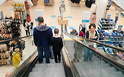 © Licensed to London News Pictures. 14/07/2020. London, UK. A shopper wearing a face covering, in Primark in Wood Green shopping centre in north London. From 24 July, shoppers will be required to wear face coverings during shopping. Shoppers who fail to comply with the new government rule risk £100 fines. Photo credit: Dinendra Haria/LNP