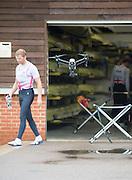 Caversham, Nr Reading, Berkshire. GBR M8+ training, Drone filming.<br /> <br /> GBRowing Media Day.<br /> <br /> Wednesday  11.05.2016<br /> <br /> [Mandatory Credit: Peter SPURRIER/Intersport Images]